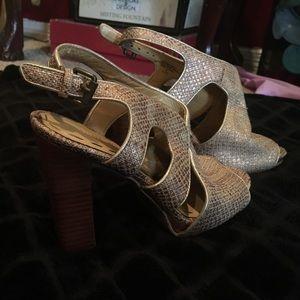 Nine West Snake print heels